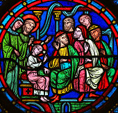 Stained Glass - Christ in the Temple in Jerusalem