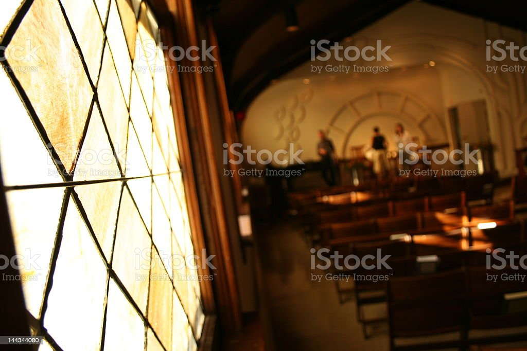 Stained Glass Church stock photo