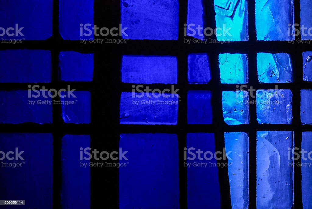 Stained glass colorful macro stock photo