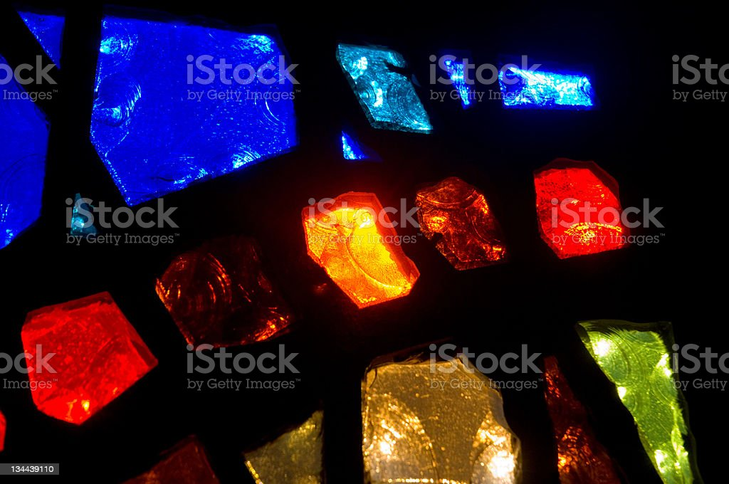 Stained Glass Colors royalty-free stock photo