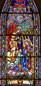 Stained glass in Bariloche - the Annunciation