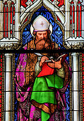 Stained Glass in the Dom of Cologne - Saint Augustine
