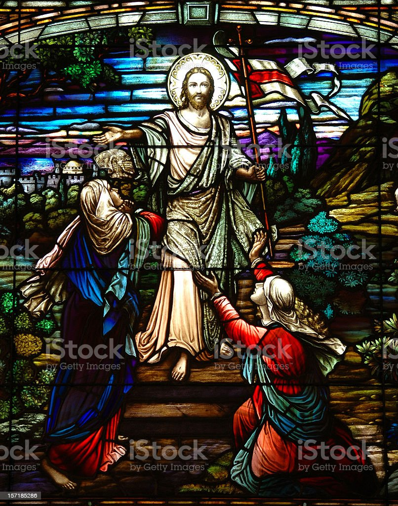 Stained Glass Jesus royalty-free stock photo