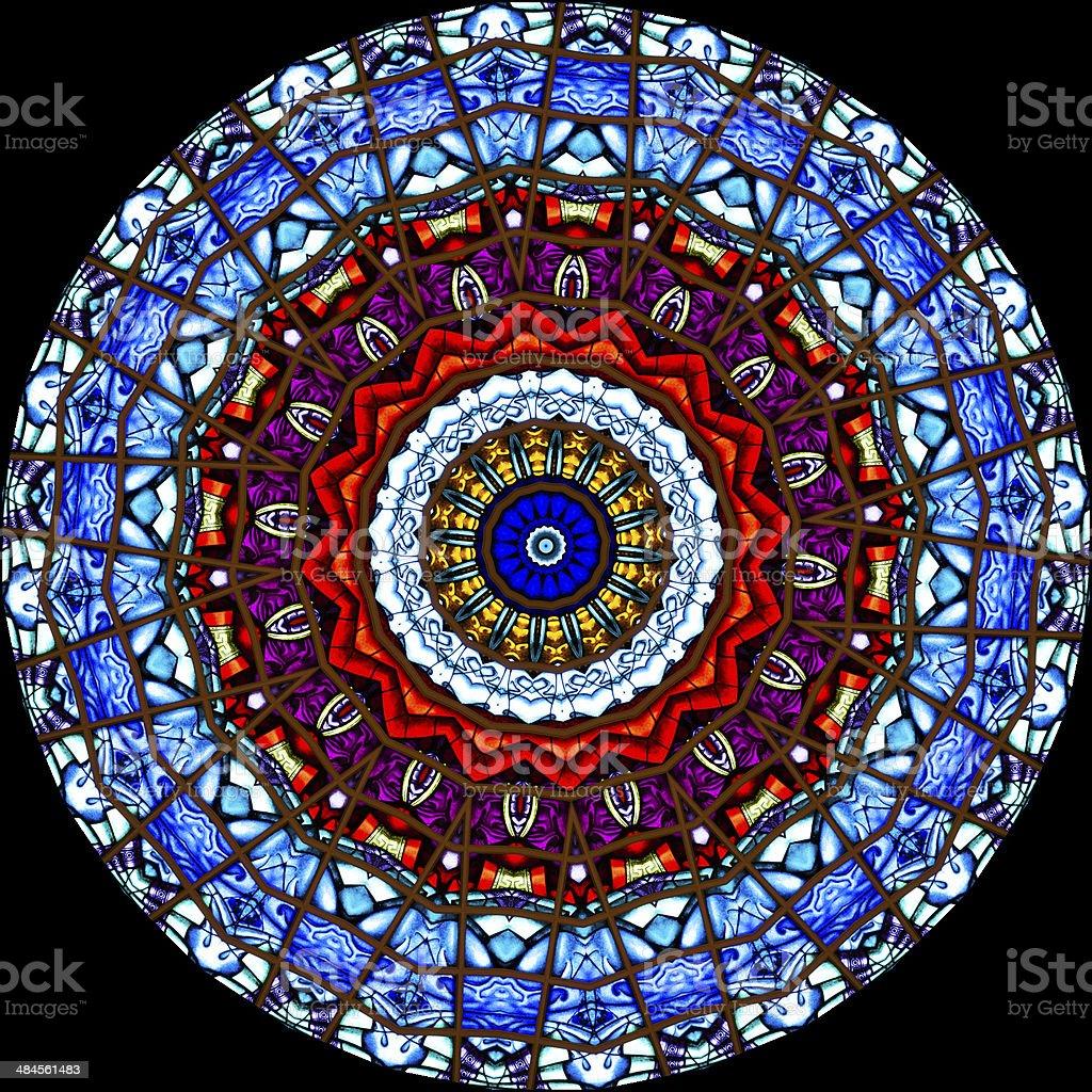 Stained Glass Kaleidoscope stock photo