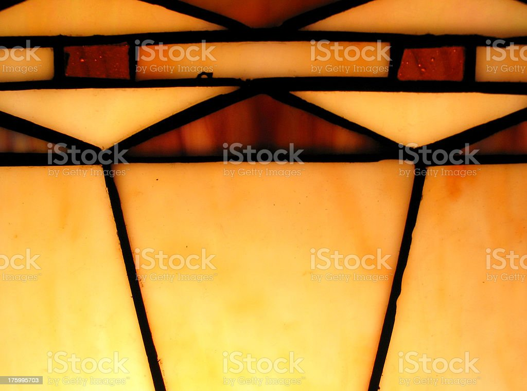 Stained Glass Lamp stock photo