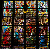 Stained Glass of The Sacrament of Confession