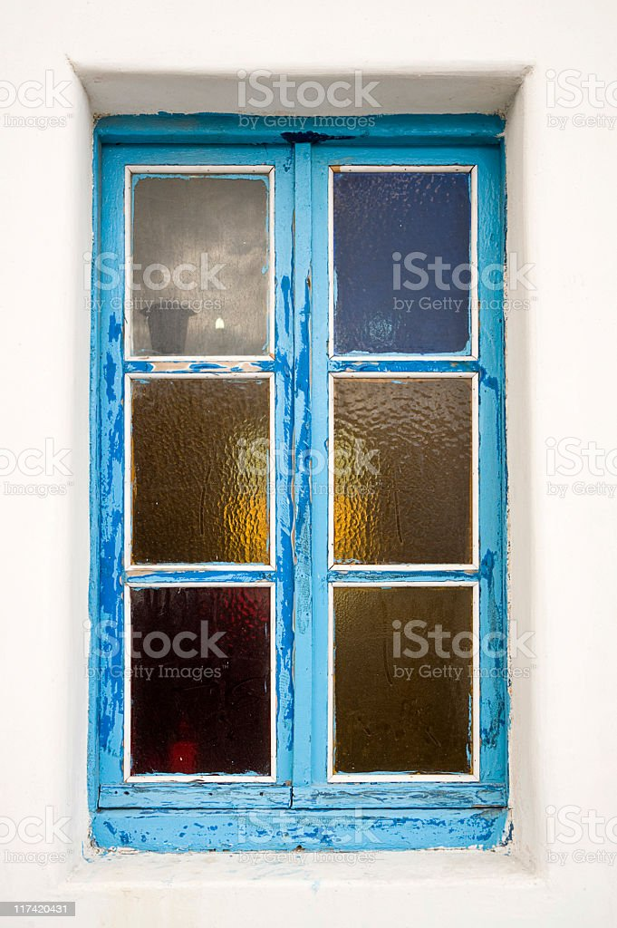 Stained Glass Panel Window stock photo