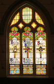 Stained Glass Panels in an Old Church