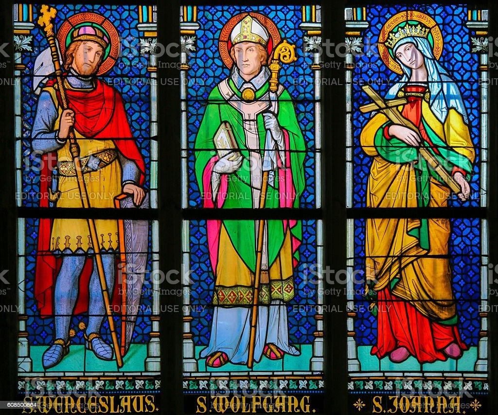 Stained Glass - Roman Catholic Saints stock photo