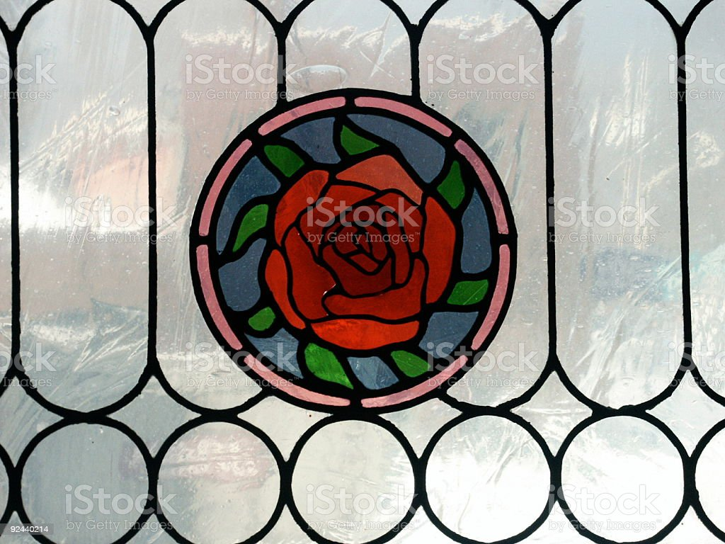 Stained Glass Rose royalty-free stock photo