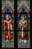 Stained Glass - Saint Clement and Saint Leo