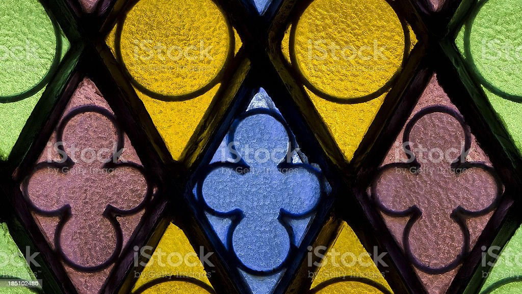 Stained glass seamless pattern royalty-free stock photo