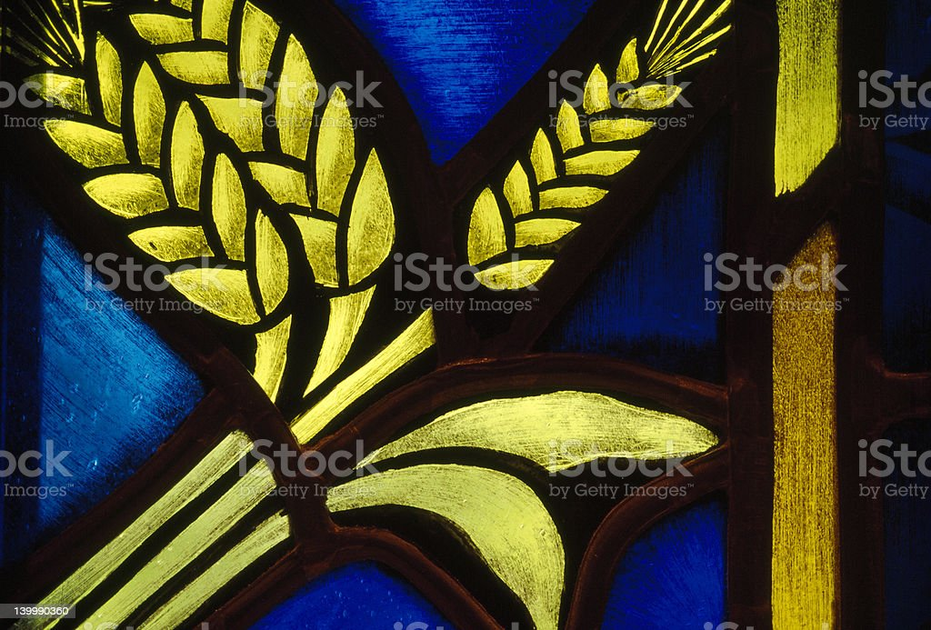Stained Glass Series: Wheat royalty-free stock photo