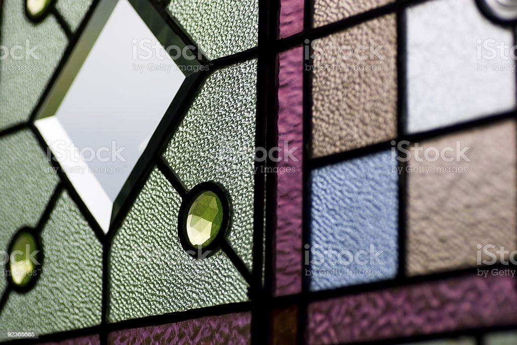 Stained glass texture stock photo