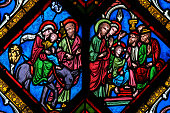 Stained Glass - The Flight to Egypt and Christ among