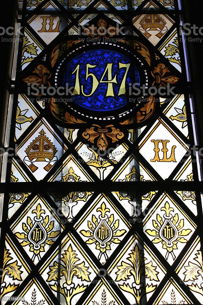 stained glass window 1547 royalty-free stock photo
