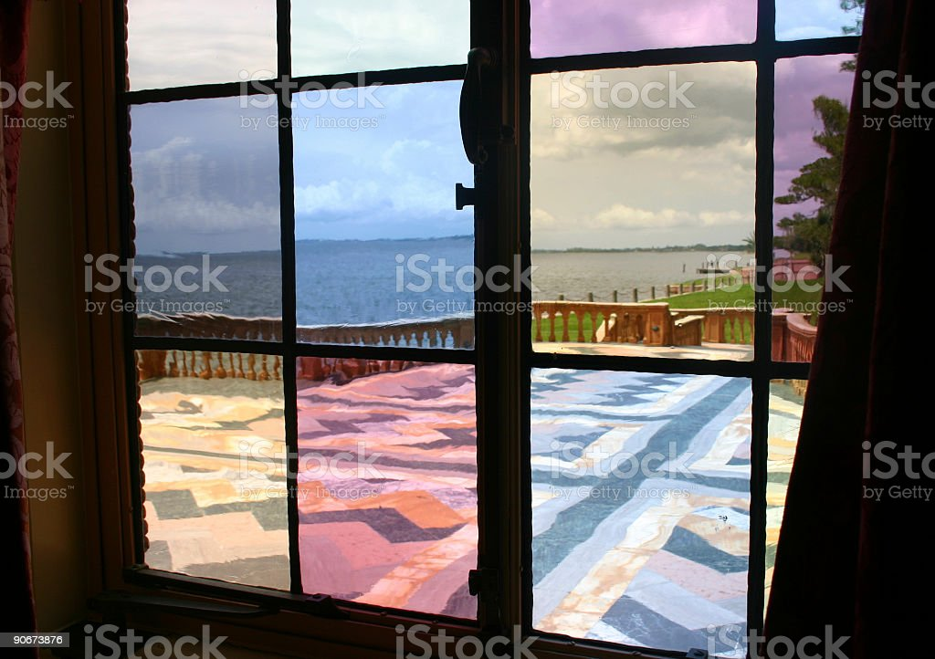 Stained Glass Window - Antique royalty-free stock photo