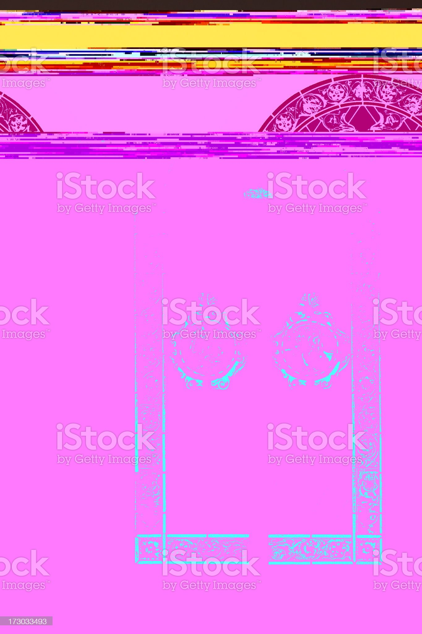 Stained Glass Window Arch royalty-free stock photo