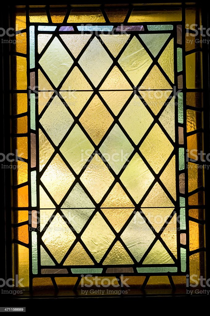 Stained Glass Window Architectual Detail royalty-free stock photo