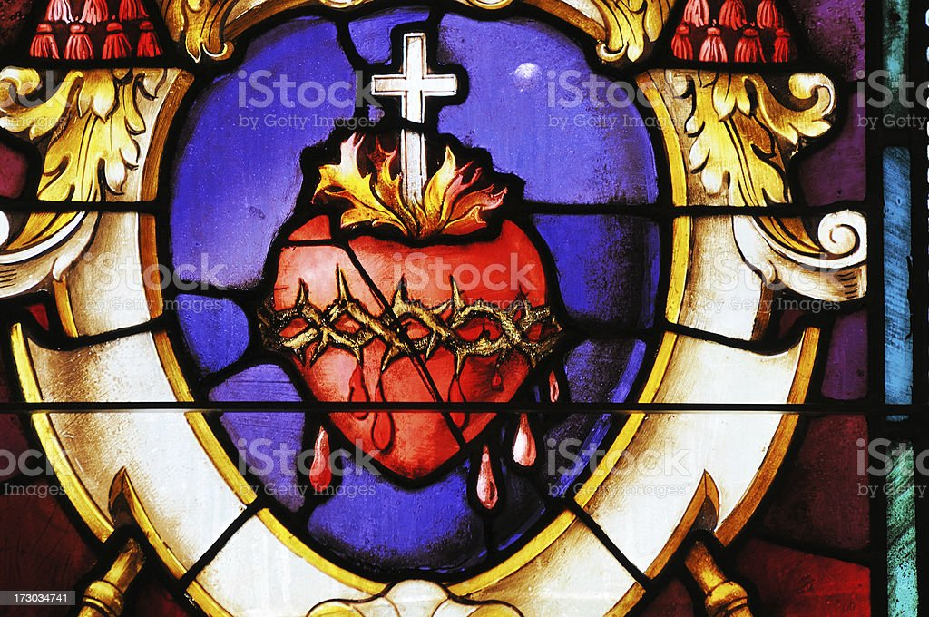 Stained Glass Window Detail royalty-free stock photo