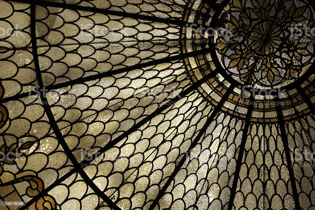 Stained Glass Window Horizontal Detail royalty-free stock photo