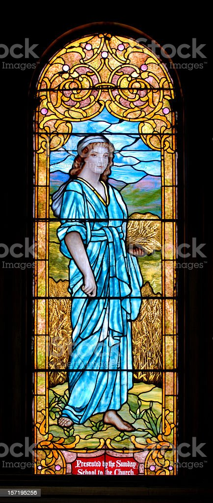 Stained Glass Window in Church royalty-free stock photo