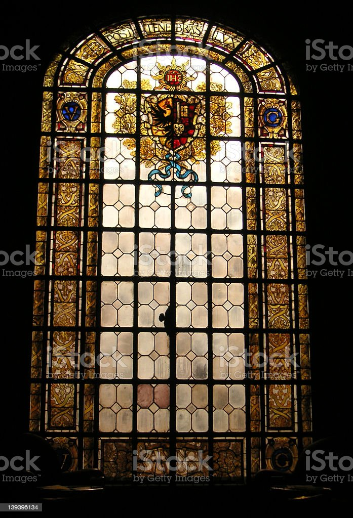 ステンドグラスの窓 ロイヤリティフリーストックフォト