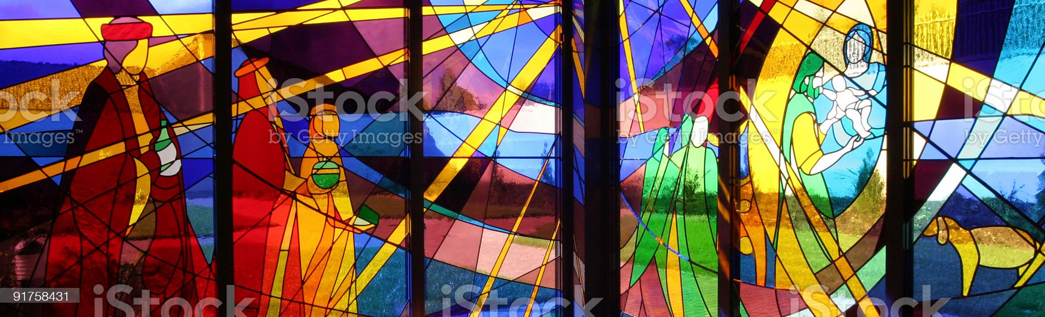 Stained Glass Window royalty-free stock photo