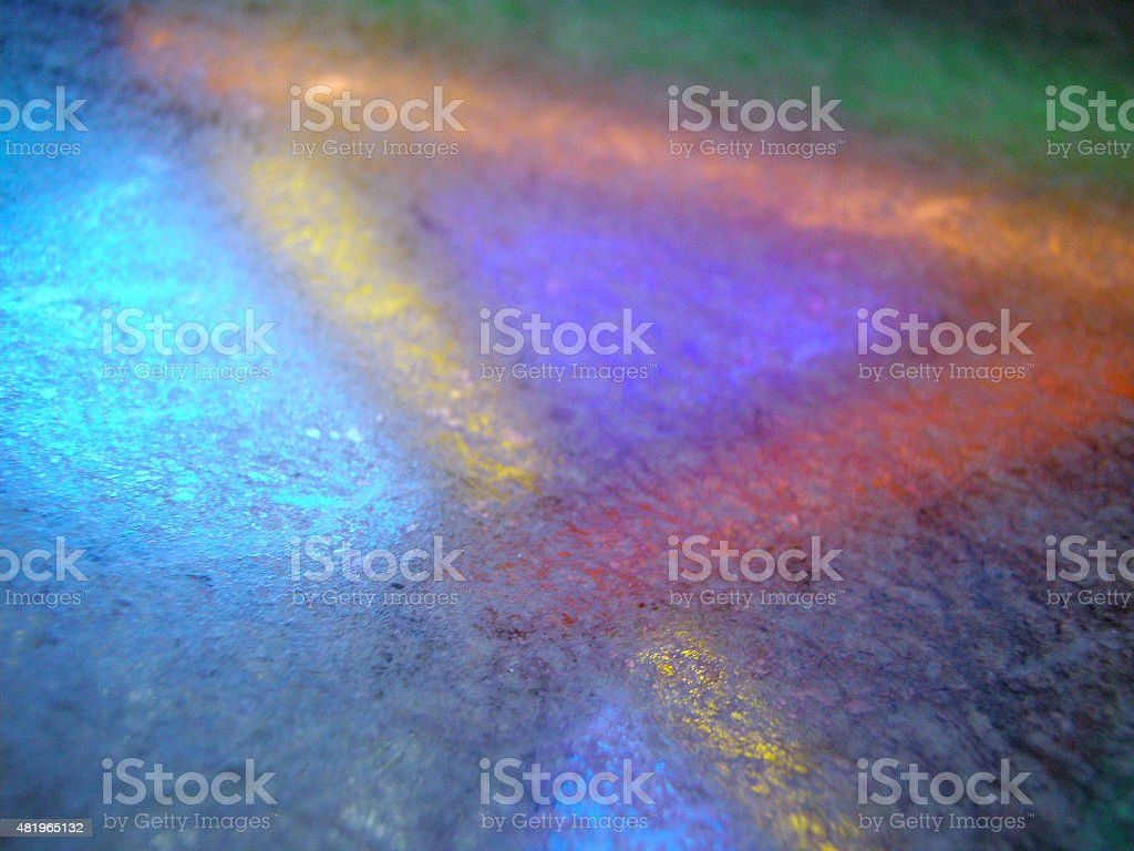Stained Glass Window Reflection royalty-free stock photo