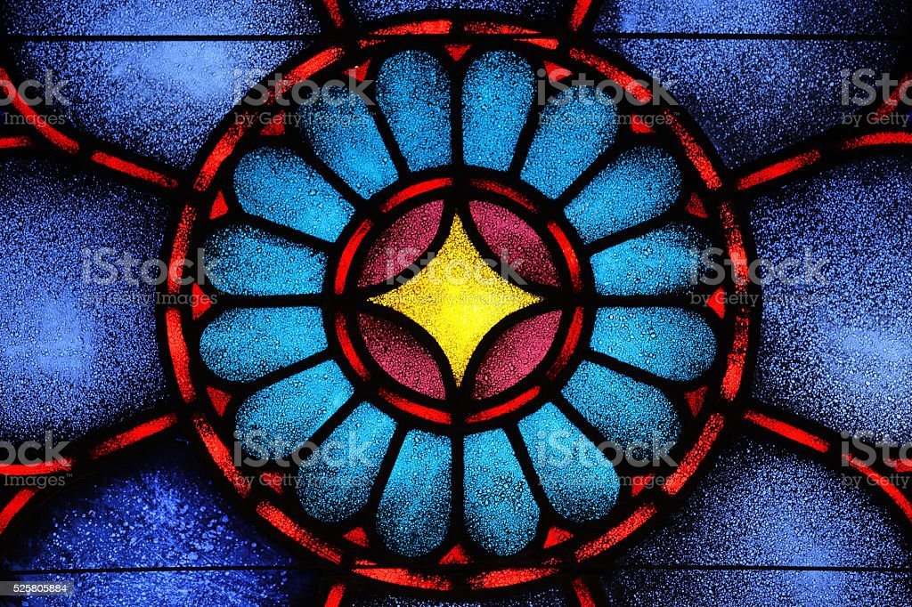 Stained Glass Window Star David stock photo