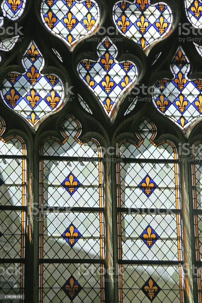 Stained glass windows, France stock photo