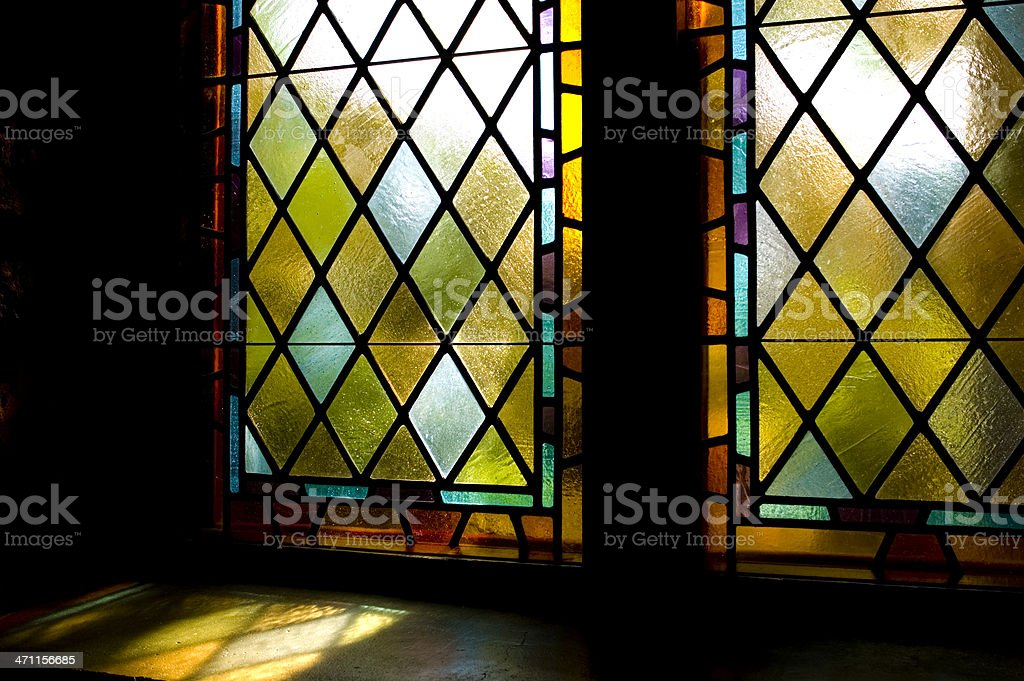 Stained Glass Windows royalty-free stock photo