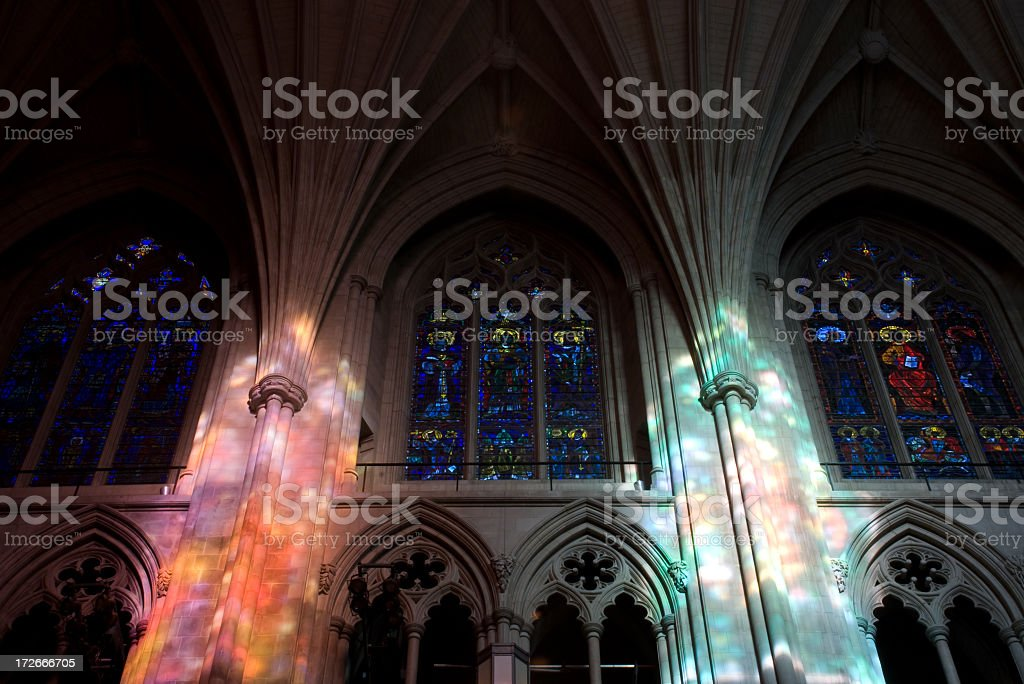 Stained Glass Windows with Illumination royalty-free stock photo