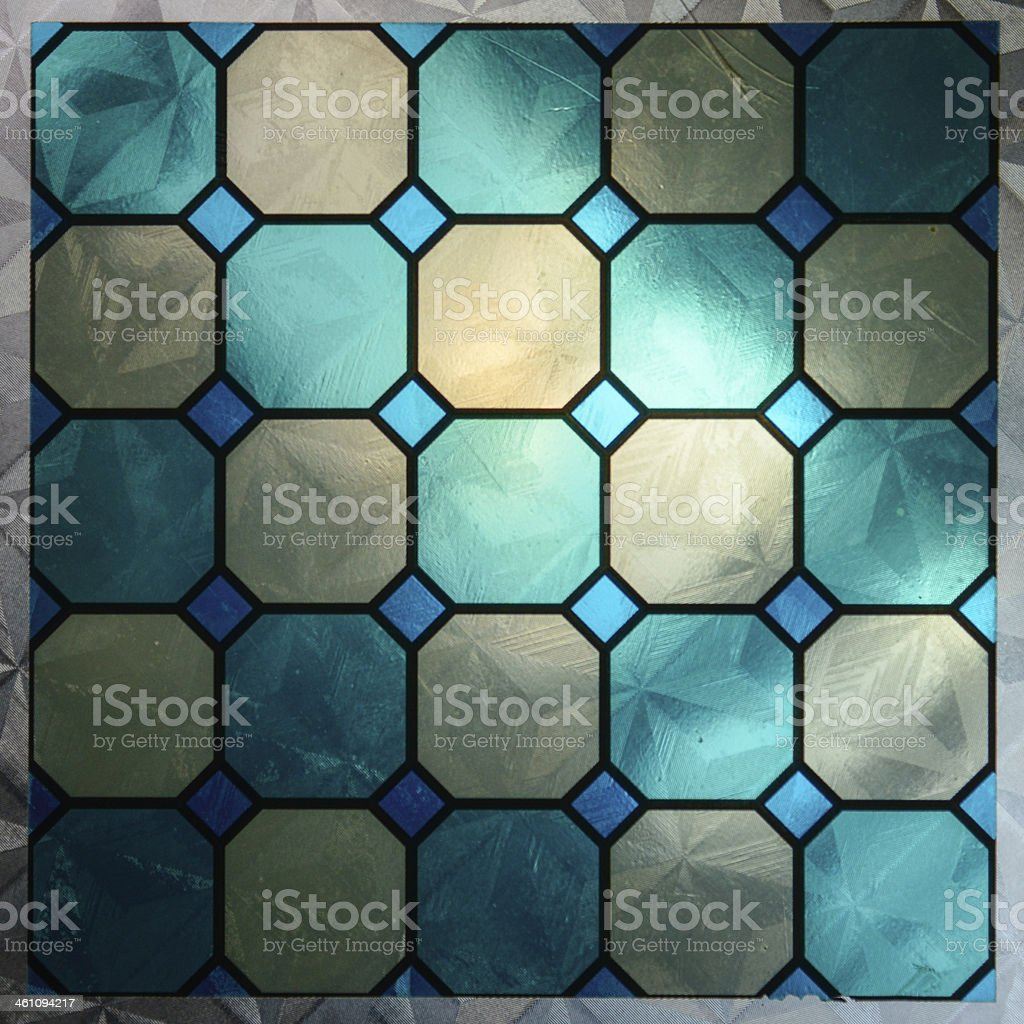 Stained glass with texture stock photo