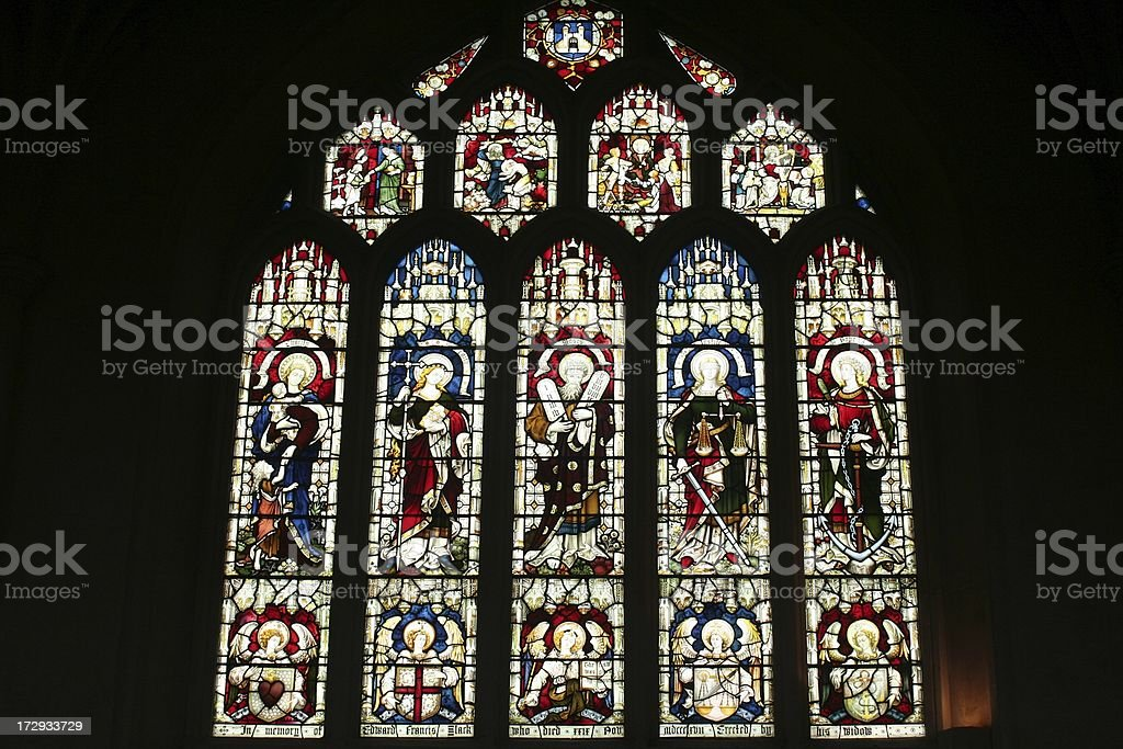 Stained glasses I royalty-free stock photo