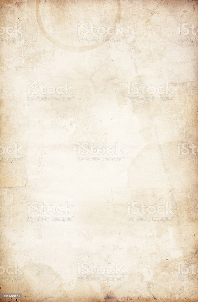 Stained Grunge Paper XXL royalty-free stock photo