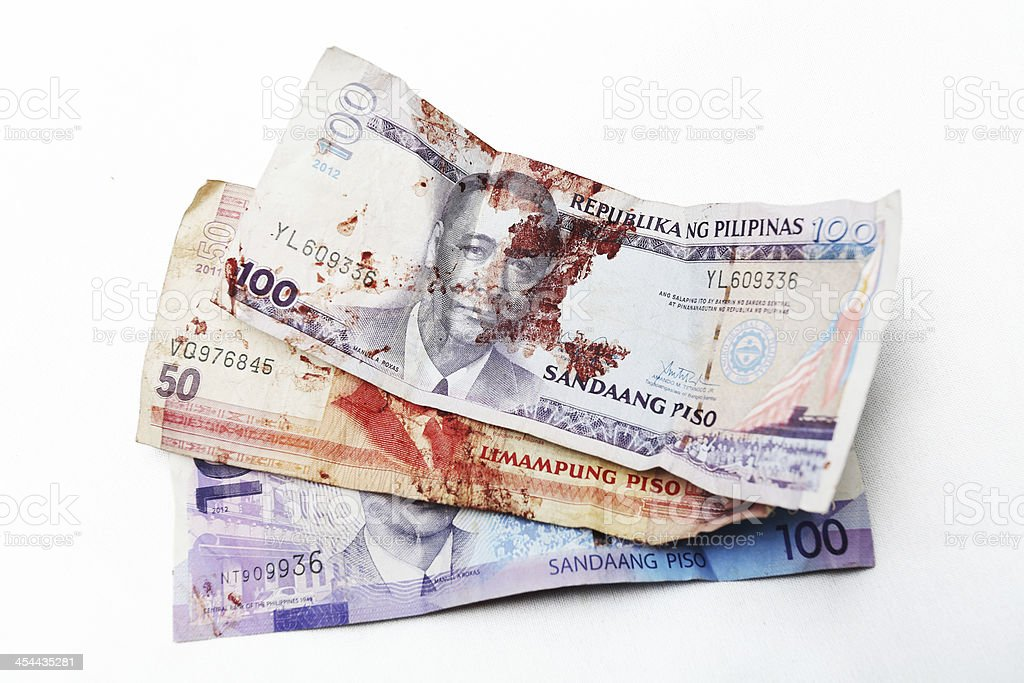 Stained Money royalty-free stock photo