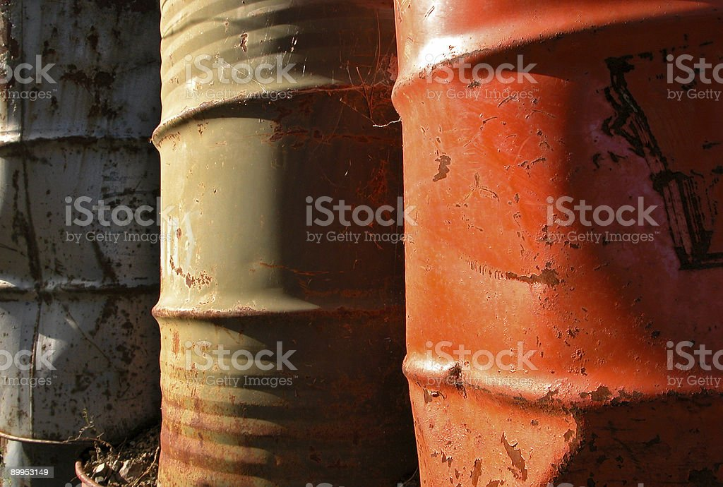 Stained old barrerls royalty-free stock photo