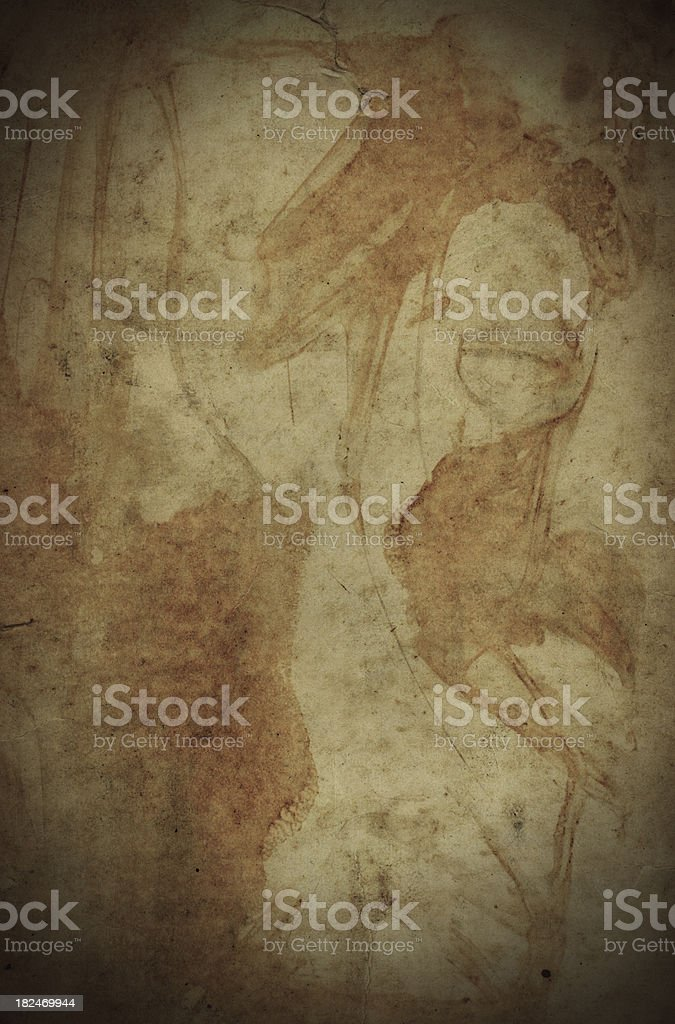 stained old  grungy paper background royalty-free stock photo