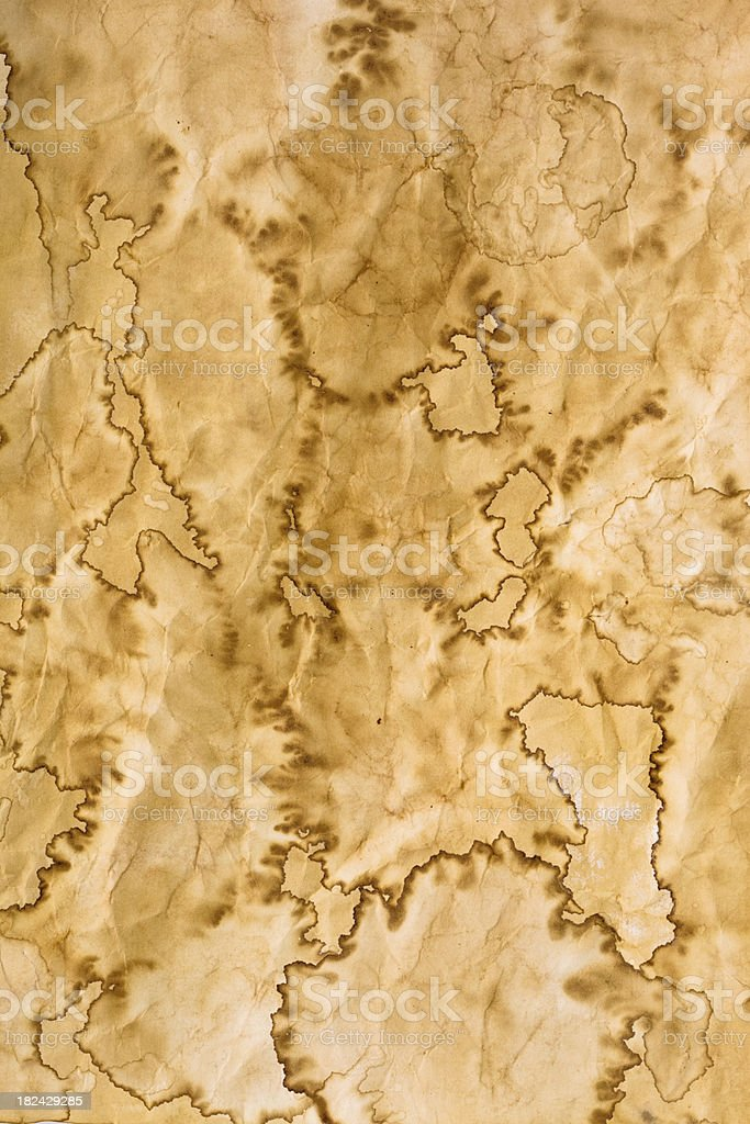 stained old paper (xxxl) stock photo
