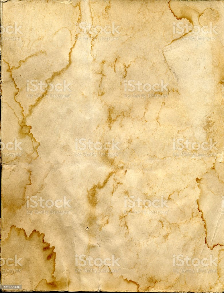 Stained paper background (Hi-res) royalty-free stock photo