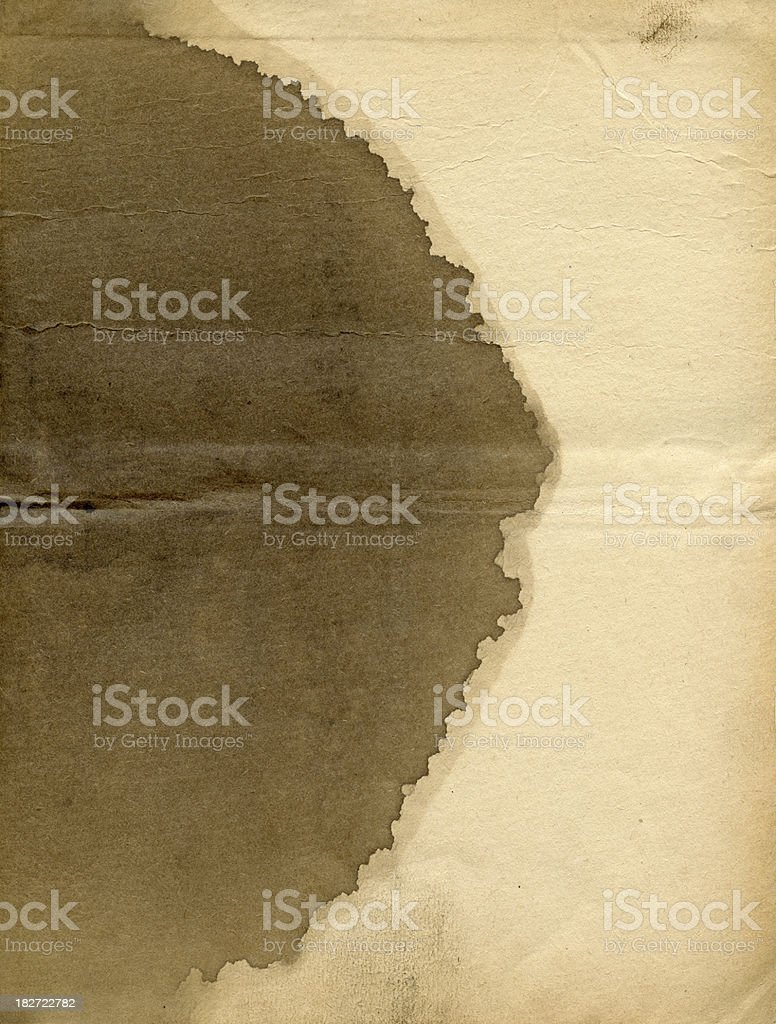 Stained paper stock photo