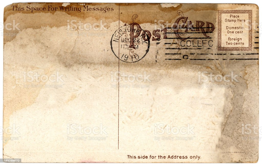 stained postcard royalty-free stock photo