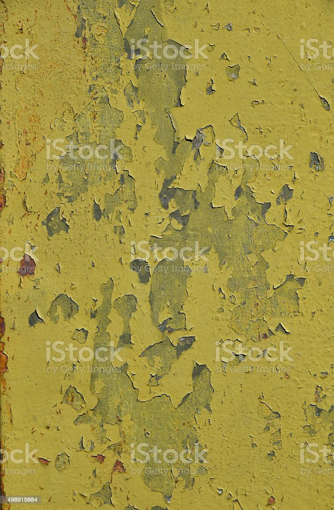 Stained rusty painted metal surface with flakes royalty-free stock photo