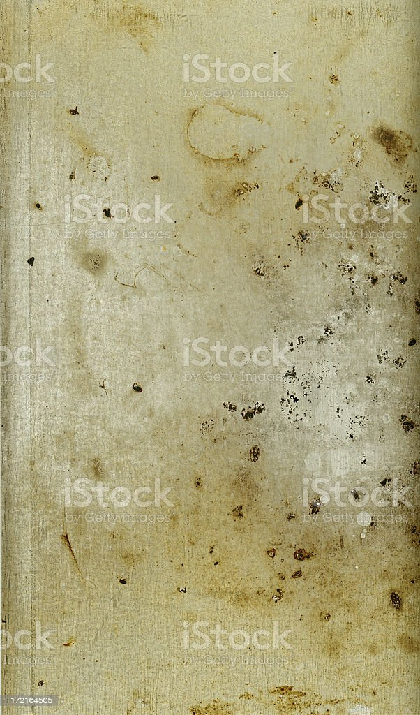 Stained Sheet Metal royalty-free stock photo