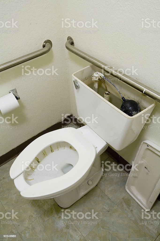 Stained Toilet royalty-free stock photo