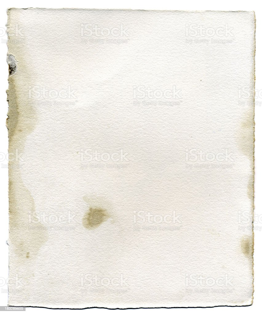 Stained Watercolor Paper royalty-free stock photo