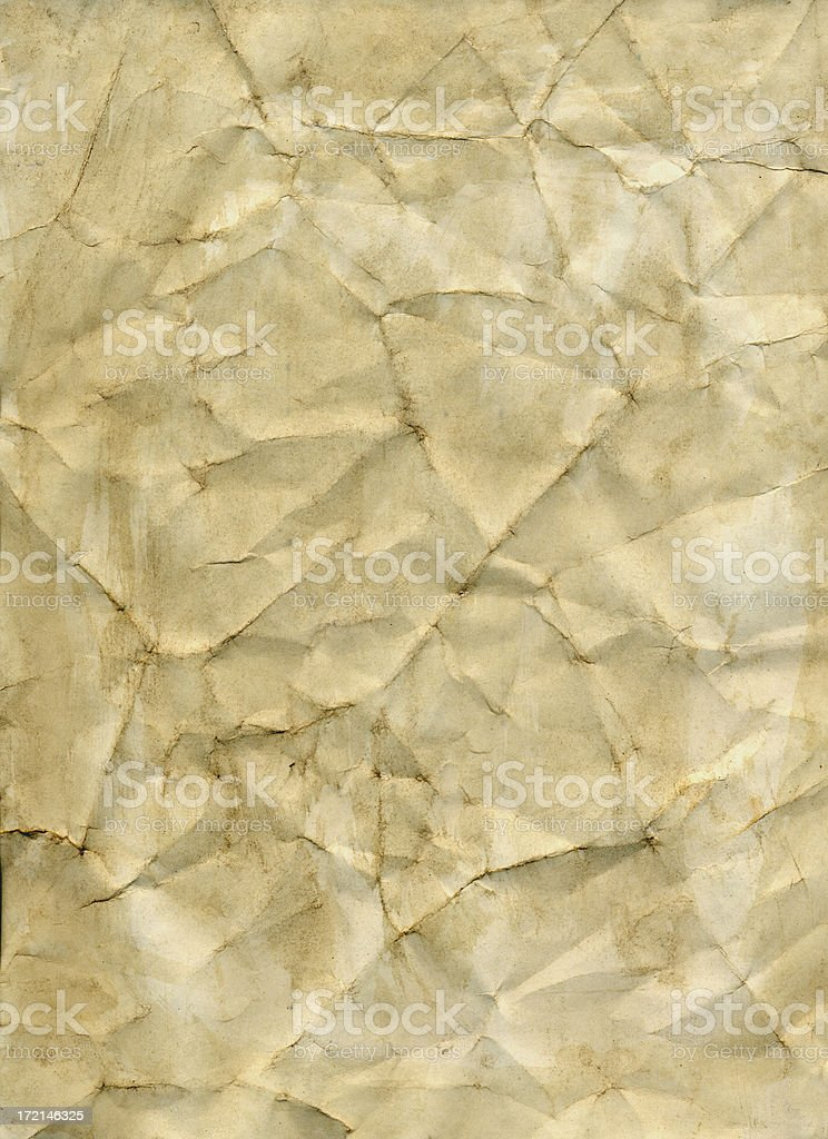 Stained wrinkled paper stock photo