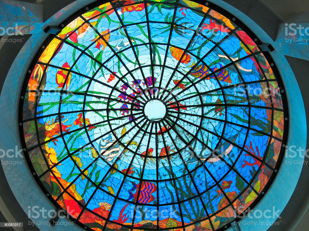 Stained-glass dome royalty-free stock photo