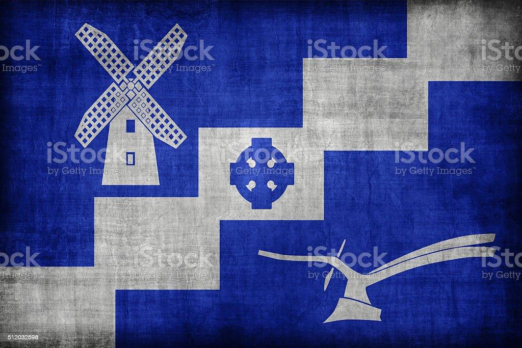 Staining, Lancashire flag pattern, retro vintage style stock photo